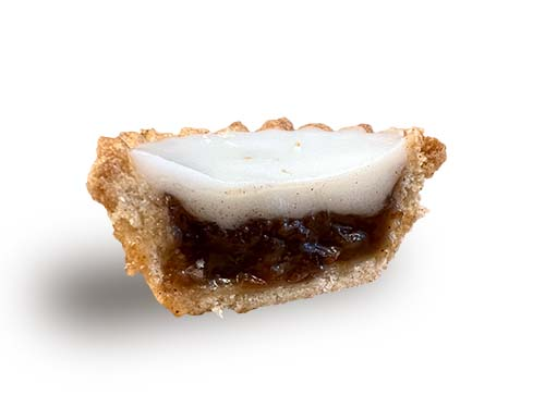 Tesco's Ice Topped Mince Pie Cross Section 2021